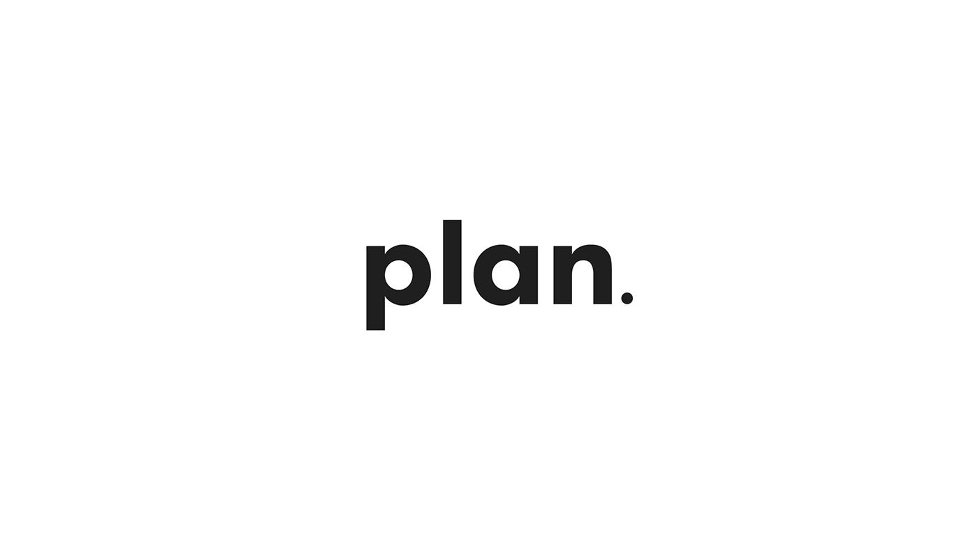 Plan agency Audio visual branding  ID Stationery Web graphic design