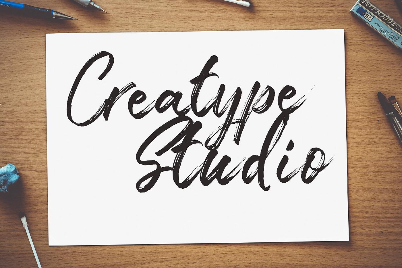 Free font logo apparel company branding  signature LETTERHEND Brush font hand brush