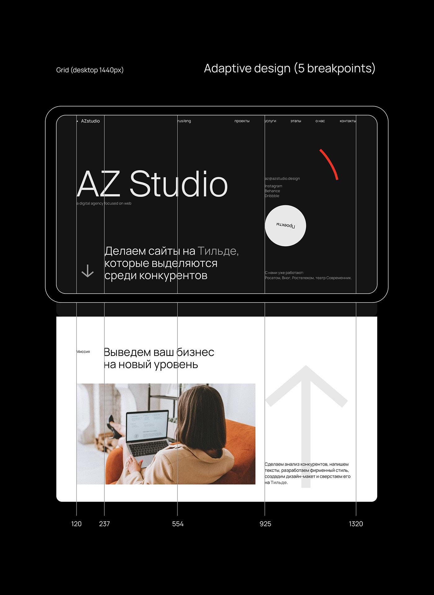 agency business clean landing landing page tilda UI/UX user interface Web Design  Website