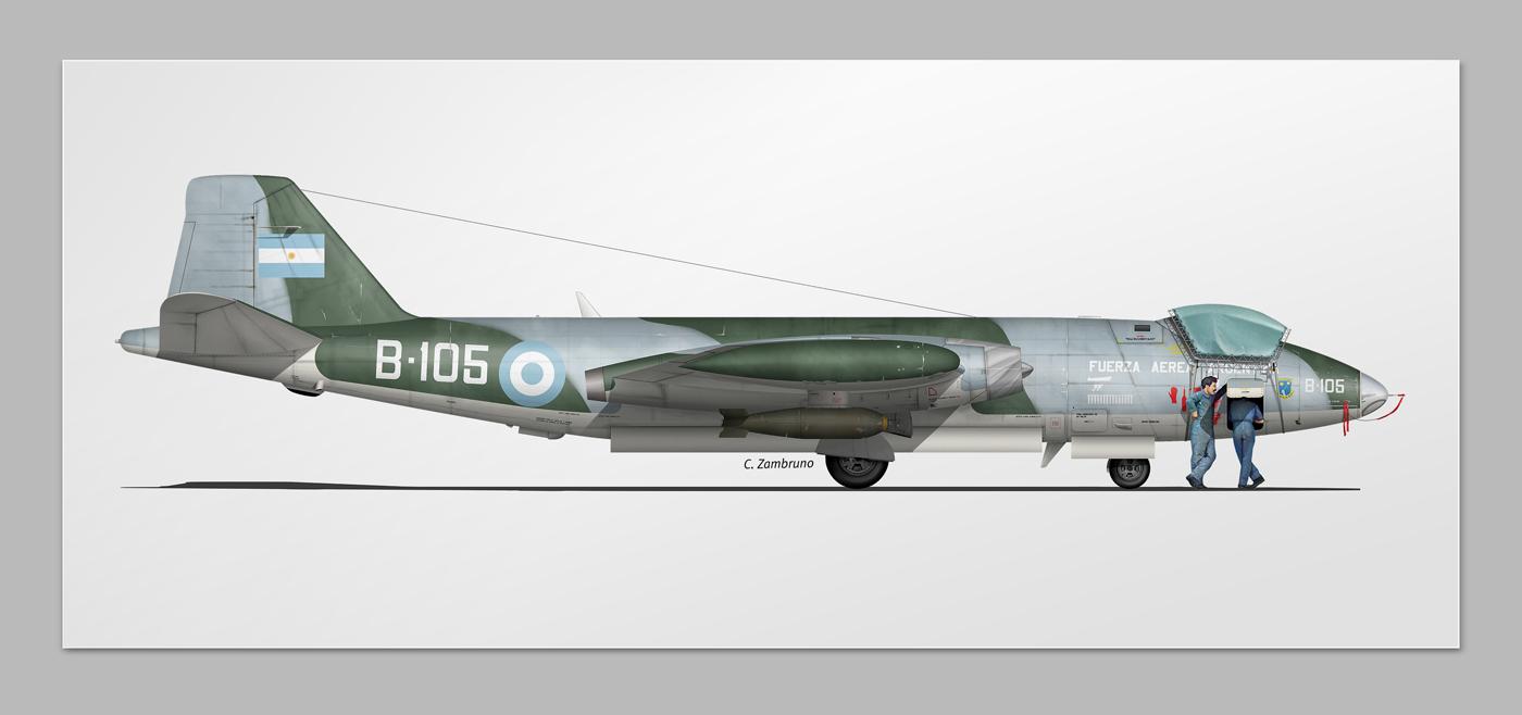 aviation Aircrafts malvinas War profiles illustrations aviation art
