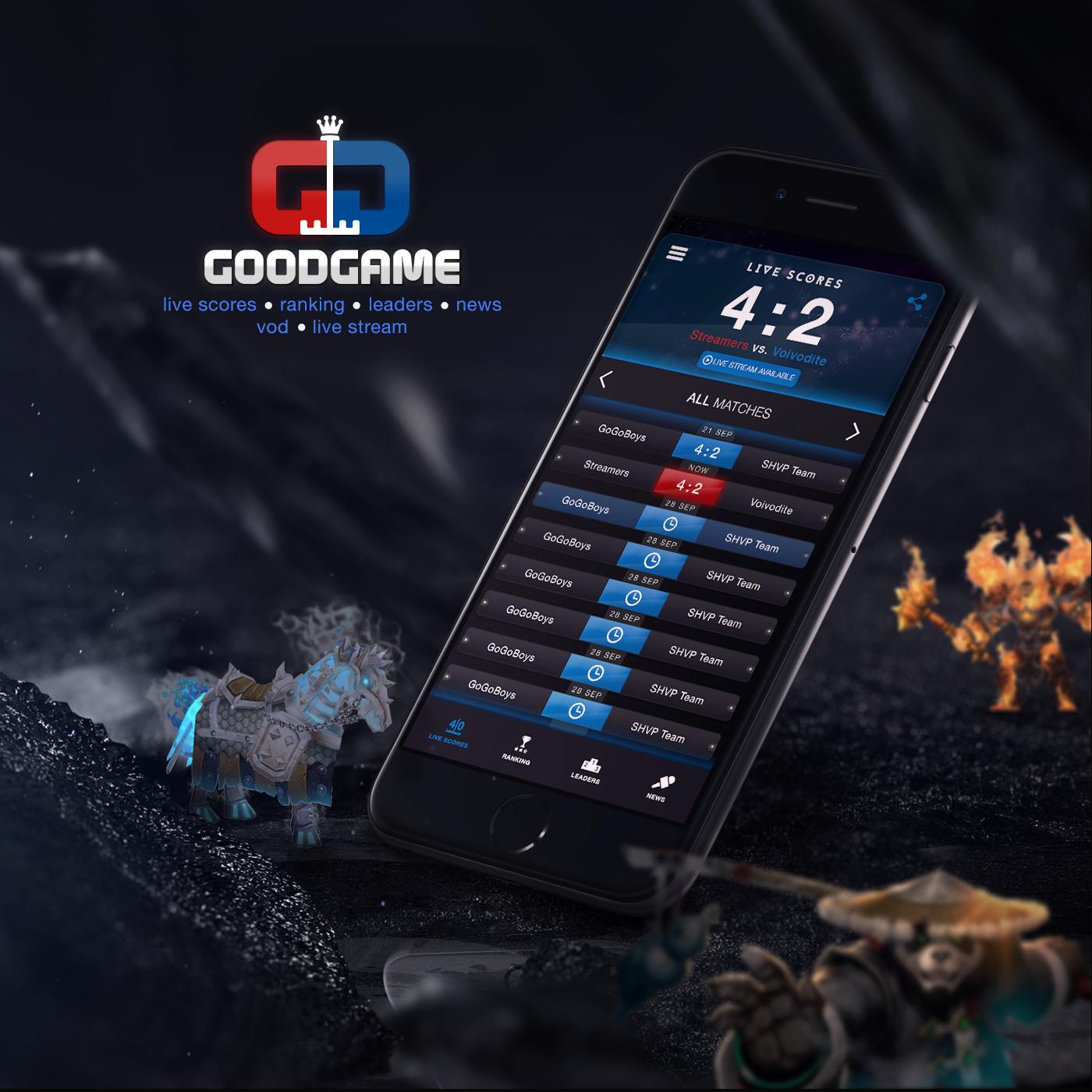 Good game gg warcraft cs counter strike Gamers live scores app Hearth Stone DOTA dota2 wow lemun