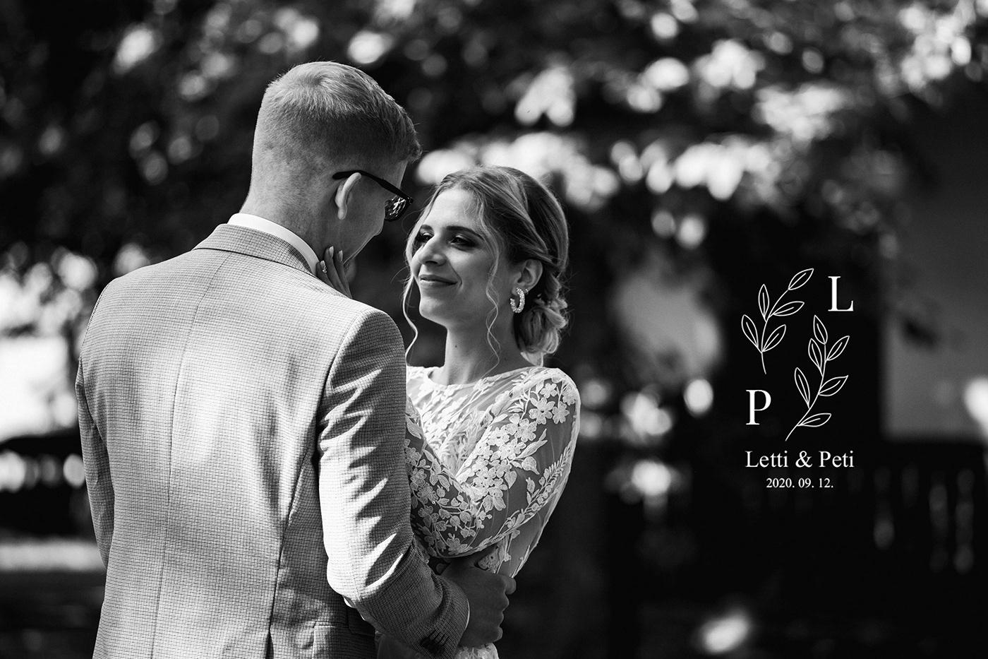 Image may contain: bride, wedding dress and kiss