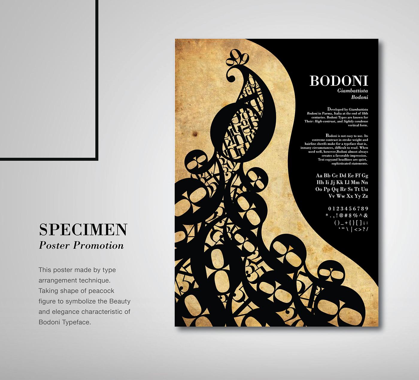 Bodoni Specimen On Behance