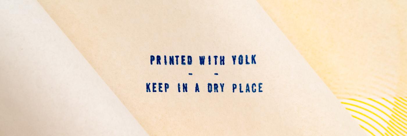 postcard print experimental experiment organic paint yolk egg Rooster cock