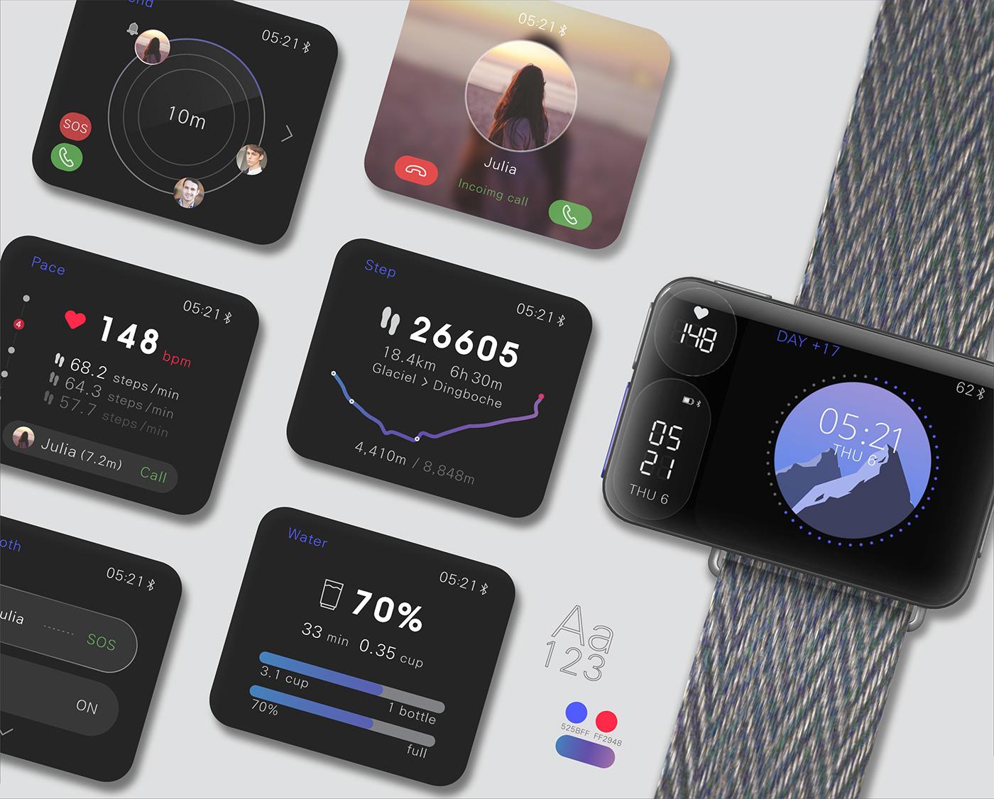 product watch ear phone smart watch UI