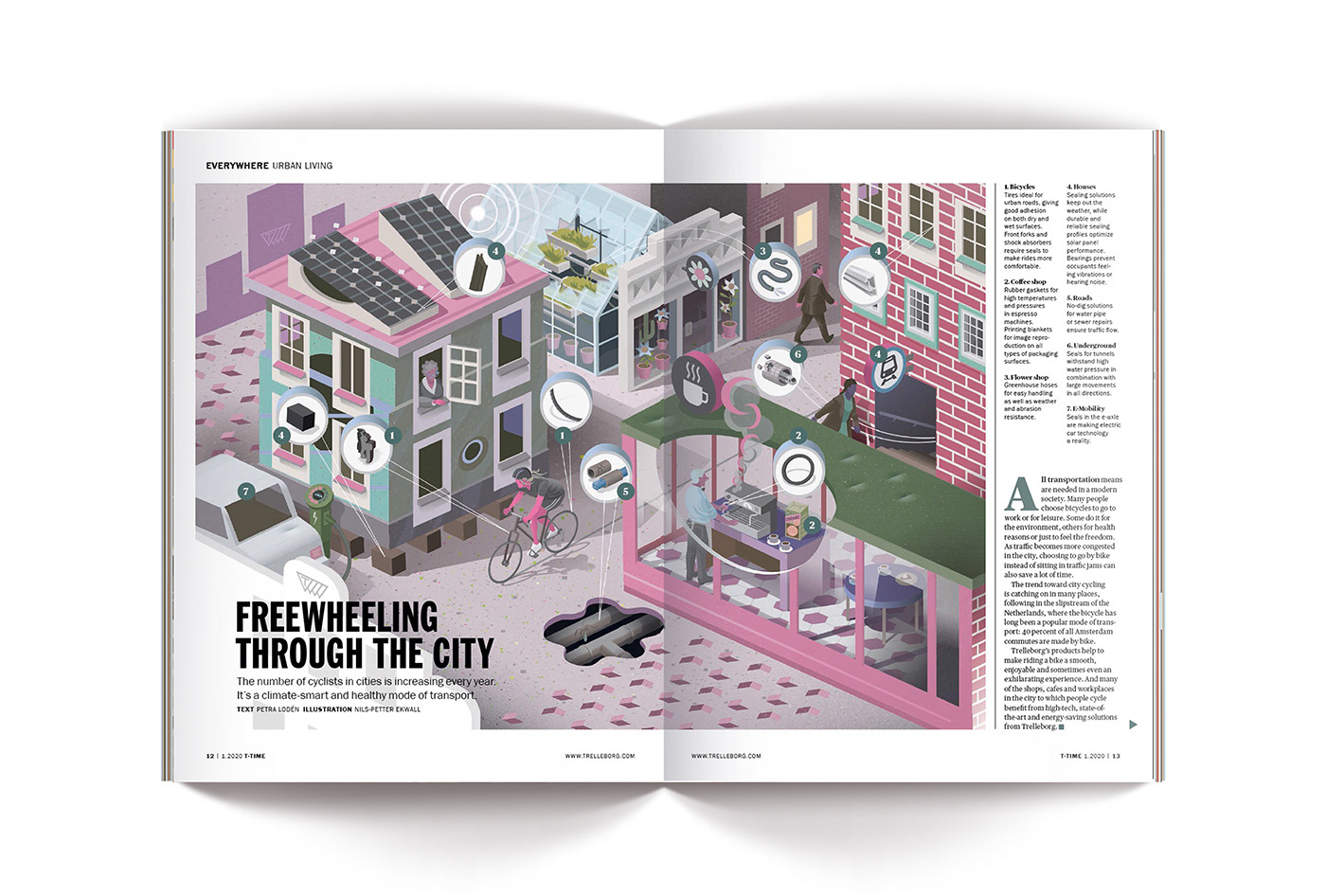 annual report brochure building city cityscape detail editorial industry infographic Isometric