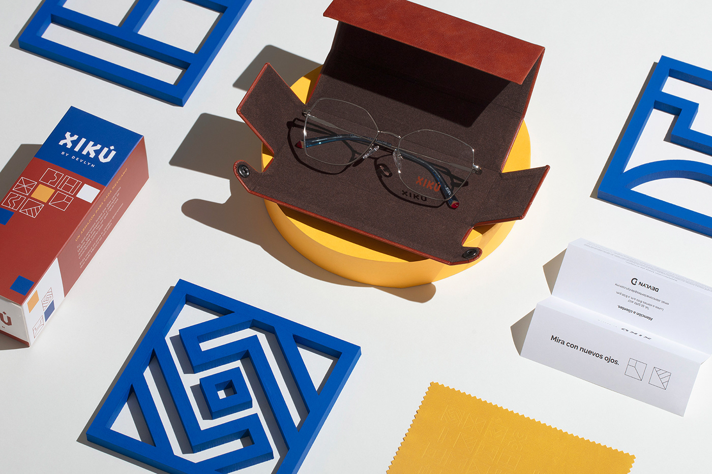 brand, culture digital eyewear glasses icons Mexican optical packaging, Shades