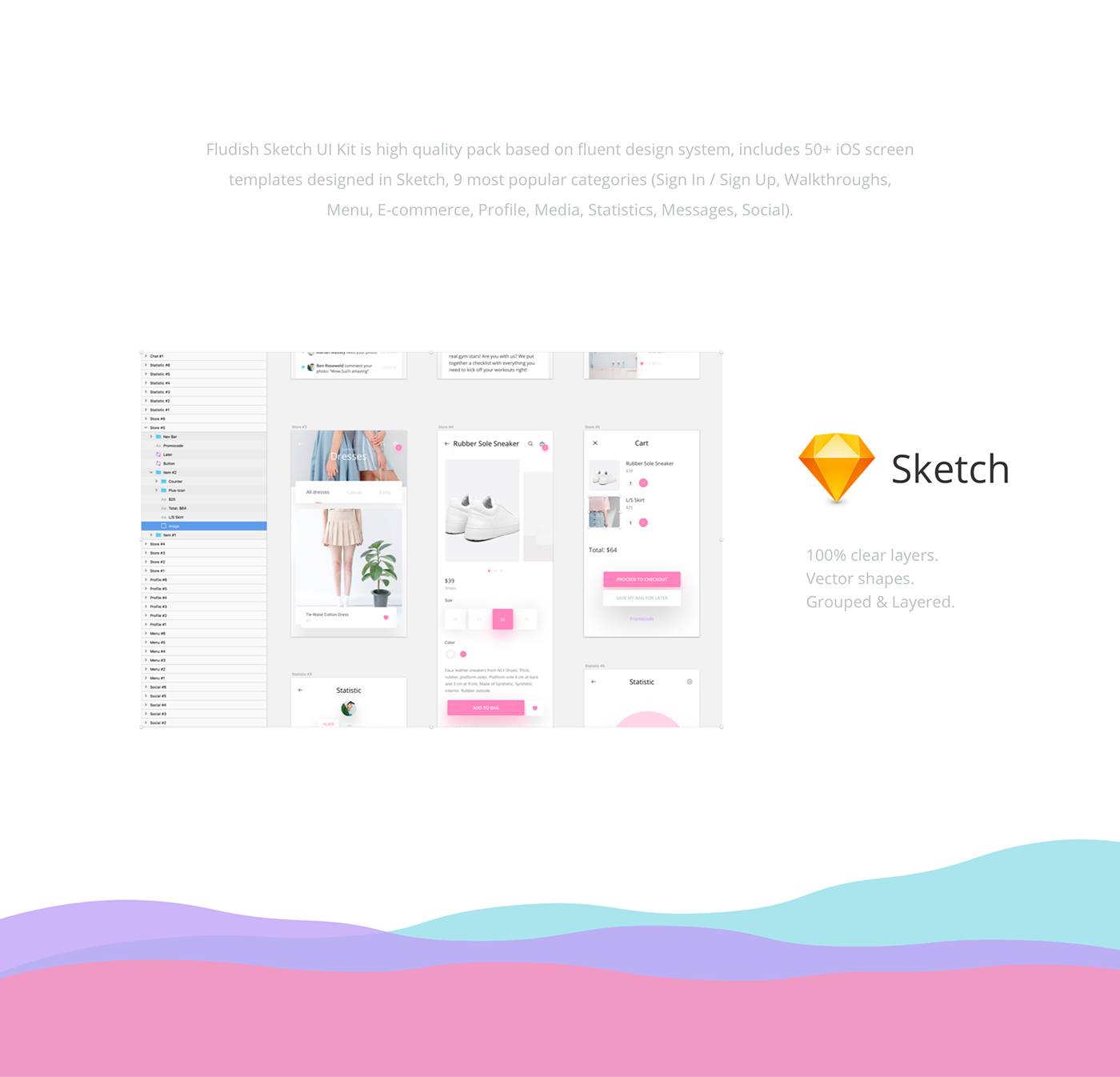 Fludish — Fluent iOS UI Kit designed for Sketch  on Behance