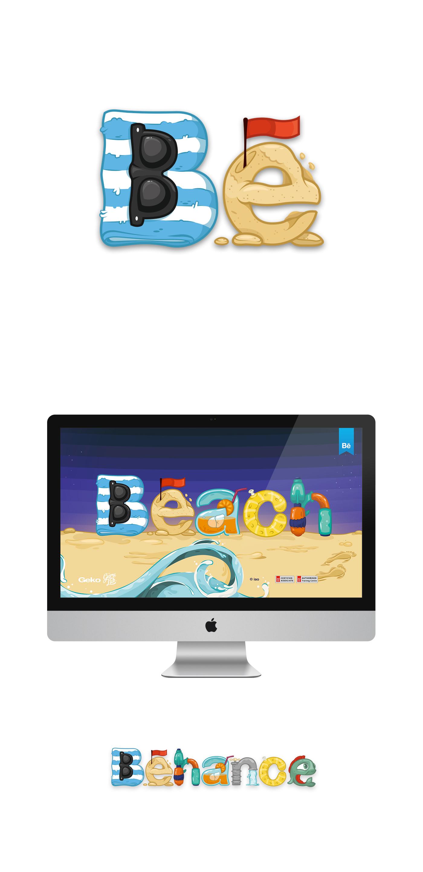 beach Behance portfolio review tshirt pins design graphicdesign