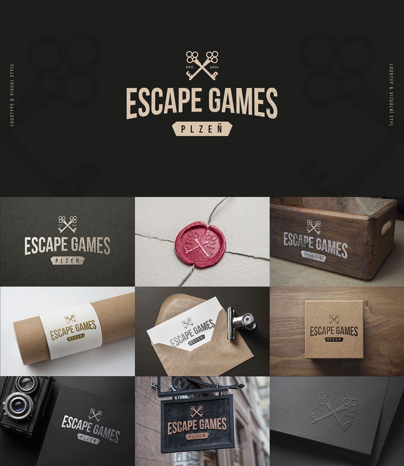 escape game Exit Sherlock Web logo keys holmes Plzeň