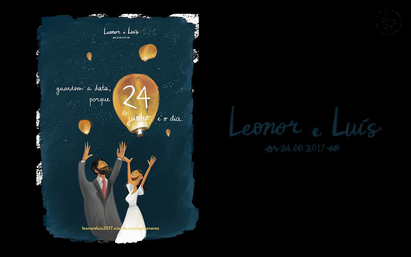 wedding Invitation Stationery menu save the date ILLUSTRATION