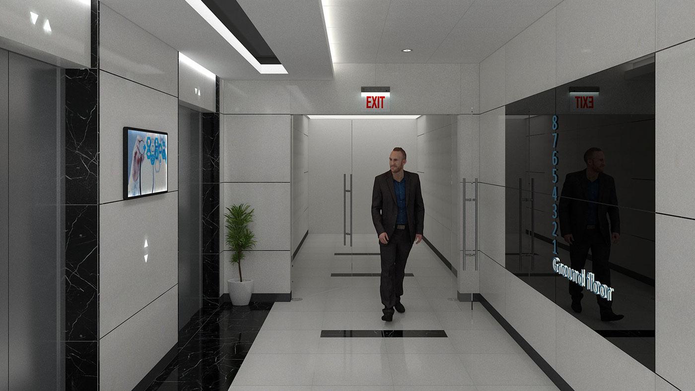 Hospital elevator lobby / Kuwait on Behance