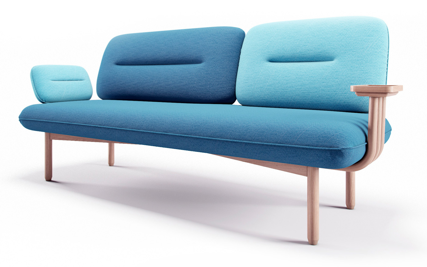sofa armchair visualization furniture CG диван кресло визуализация
