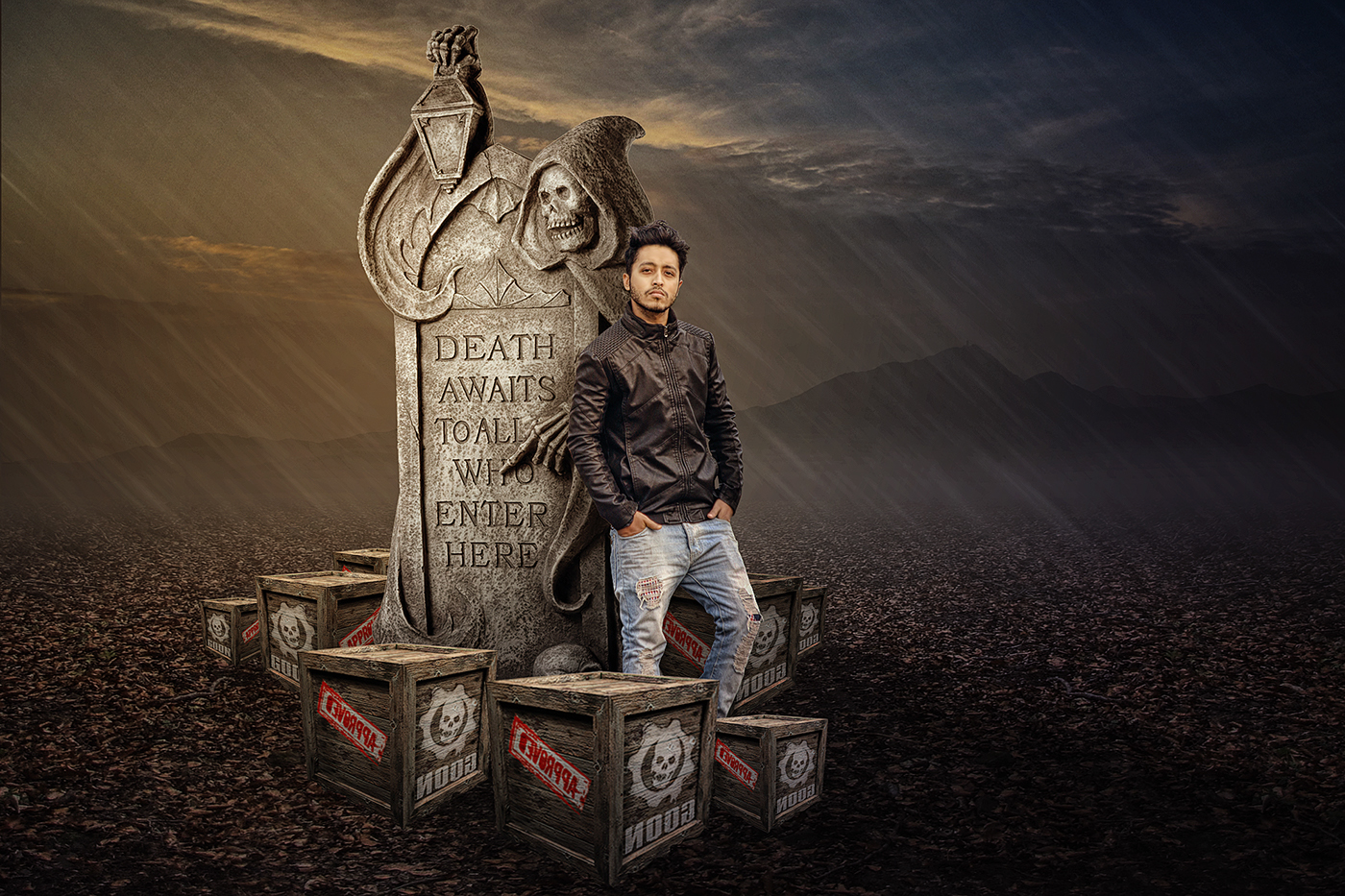 Photo Fantasy Book Cover Tutorial ~ Photoshop tutorial photo manipulation dark night effe on