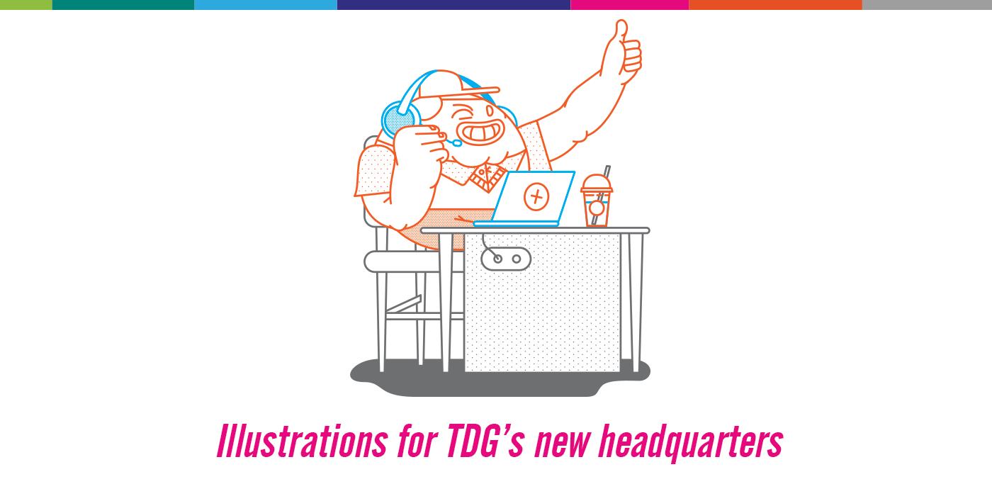 corporate Headquarters Interior Graphics Spatial Design TDG thinkdigital vinyl stickers