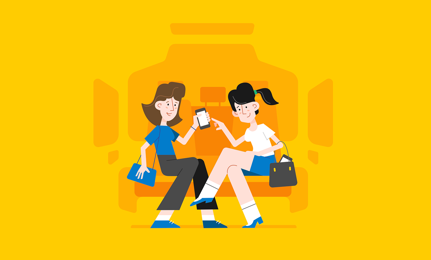 2D animation  explainer motion design motion graphics  myTaxi taxi