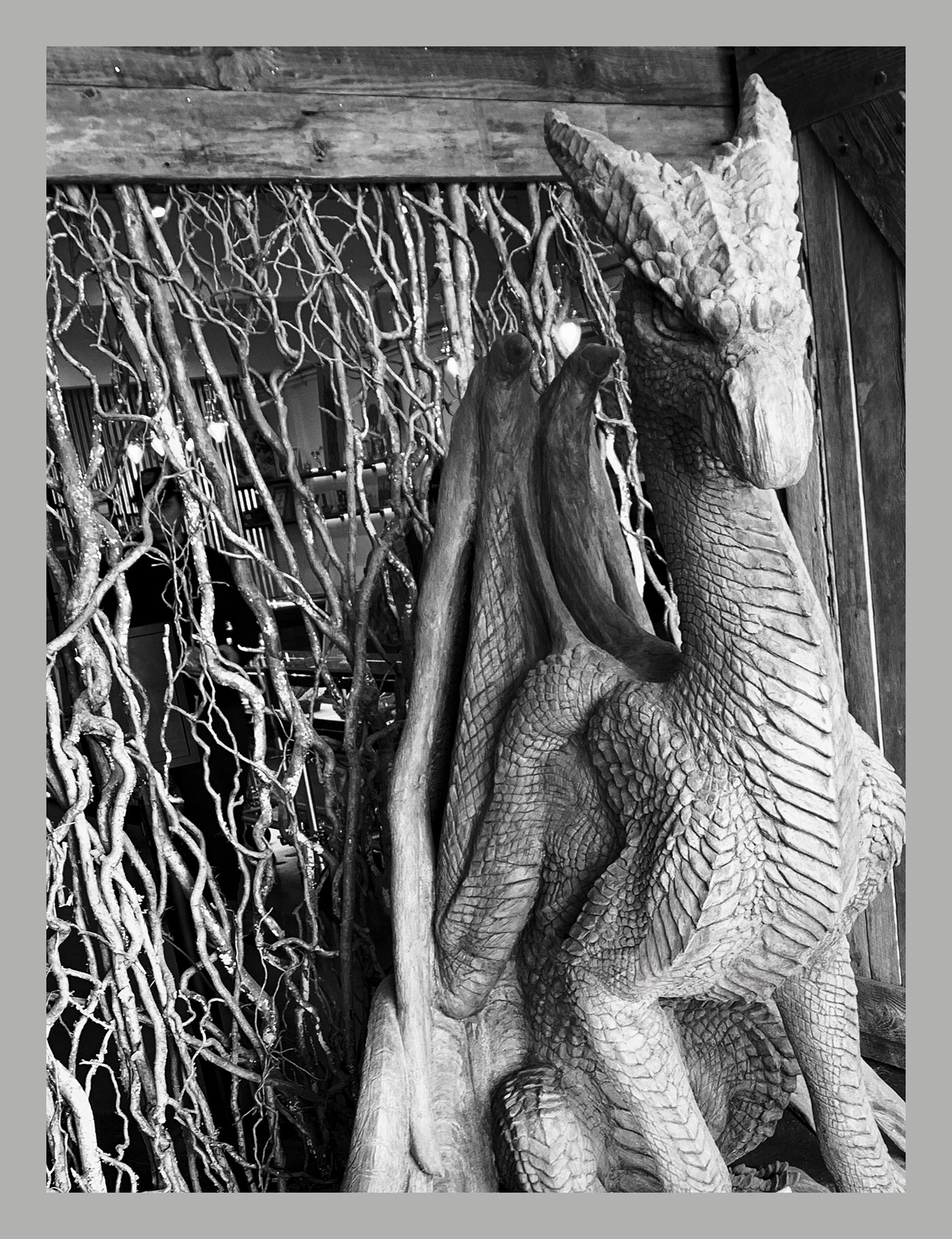 dragon fantasy sculpture