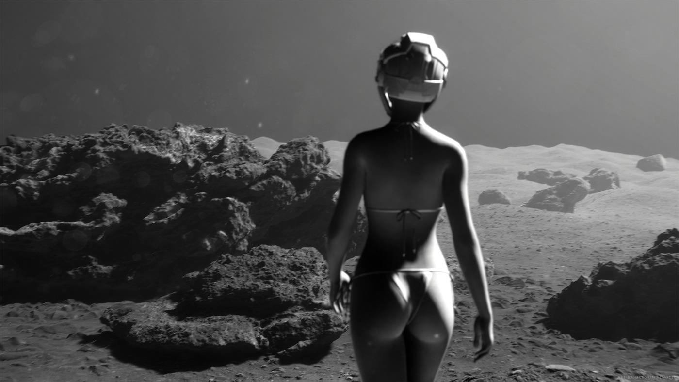 animation  CGI HDRP moon realtime unity vfx terrain