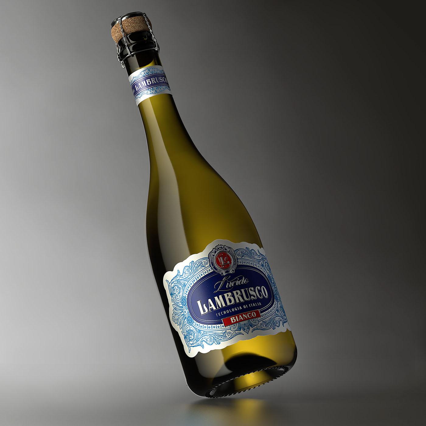 valerii shumilov shumilovedesign lambrusco packaging design Packaging label design Italy alcohol wine