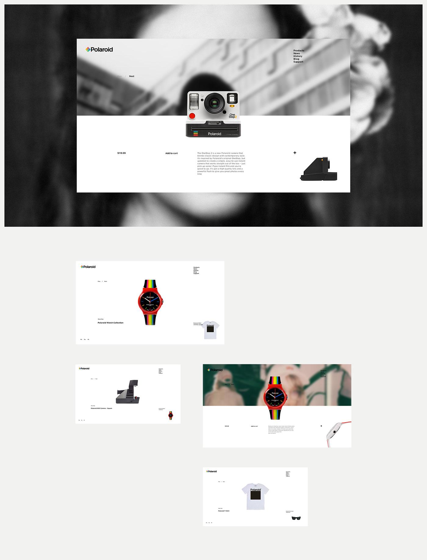 UI ux Web minimal clean POLAROID poster concept photo