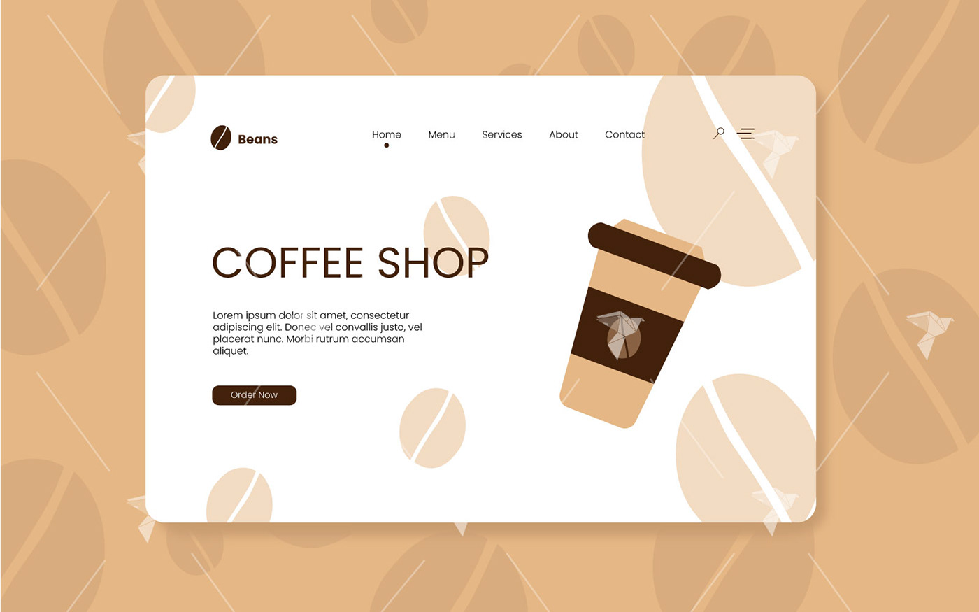 Coffee coffee cup coffee shop cup landing landing page landing page design uidesign