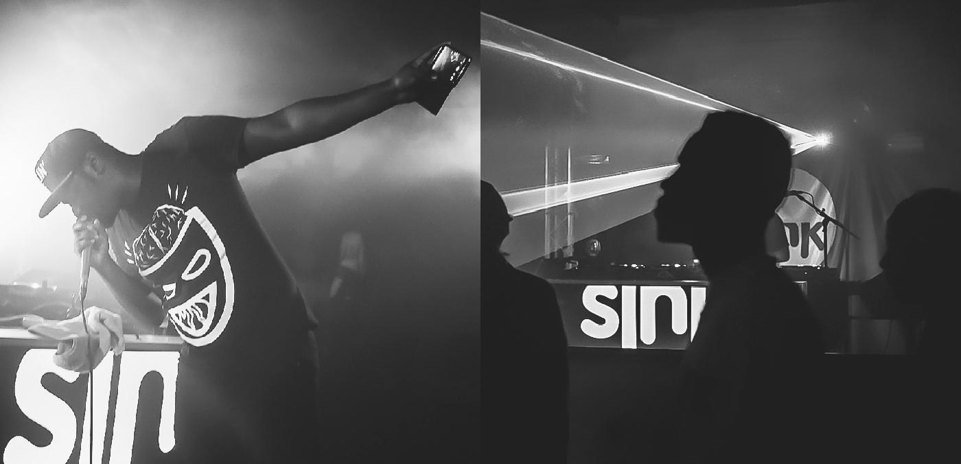 nightclub club Event DANCE   branding  DnB bass swansea Sink