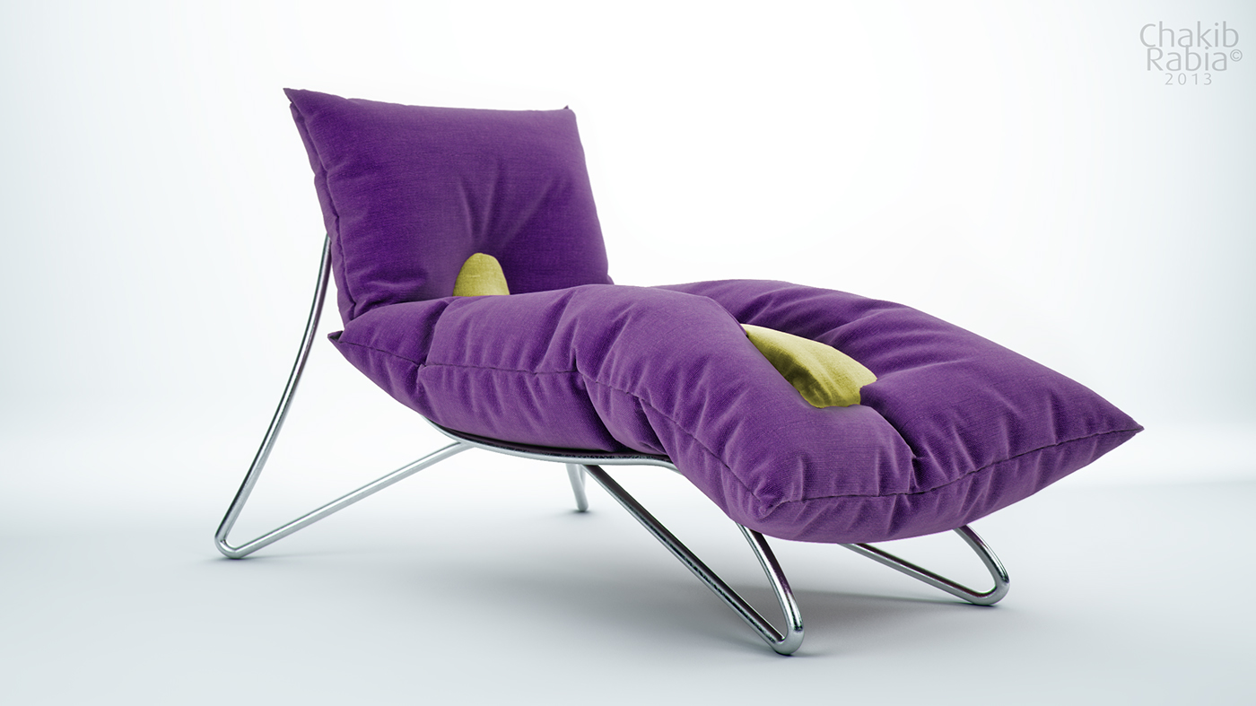 Purple Relaxing Chair on Behance  Purple Relaxing...