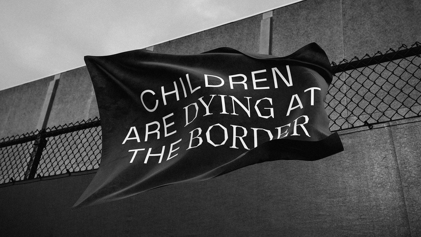 graphic design  charity NGO politics america Photo Manipulation  desert mexico Refugees migrants