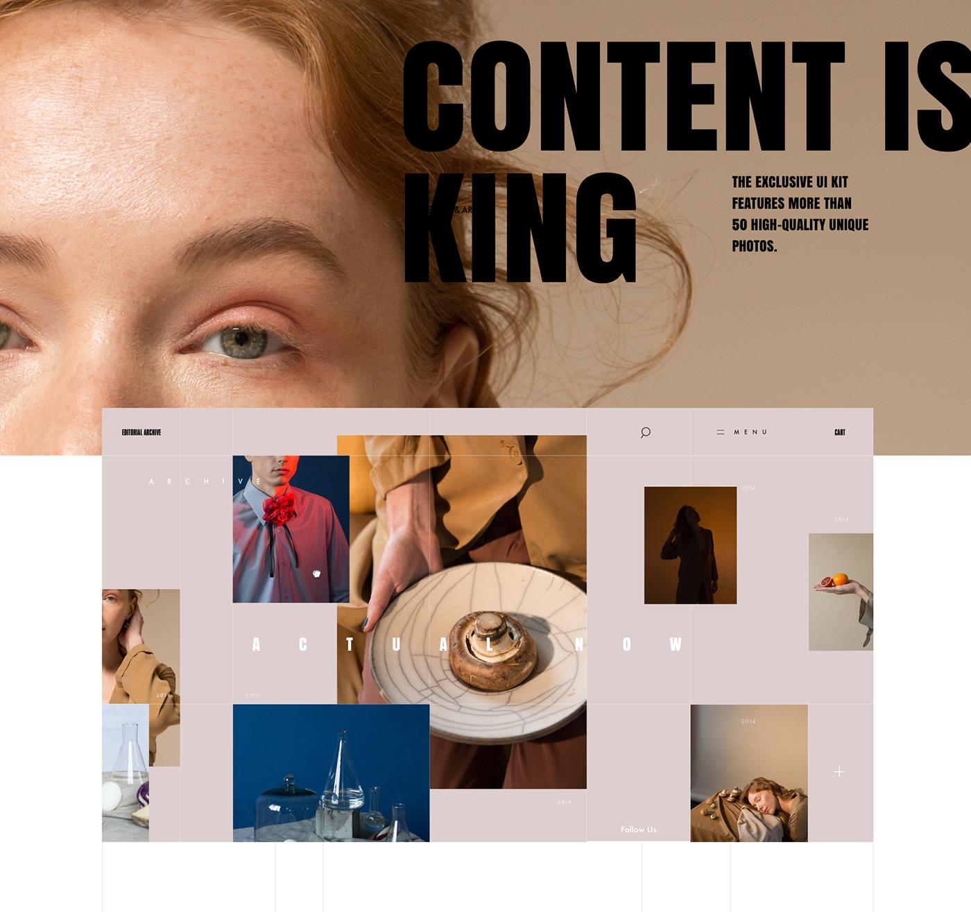 ui kit freebie free ui kit Adobe XD xD Fashion  editorial ux UI UX design