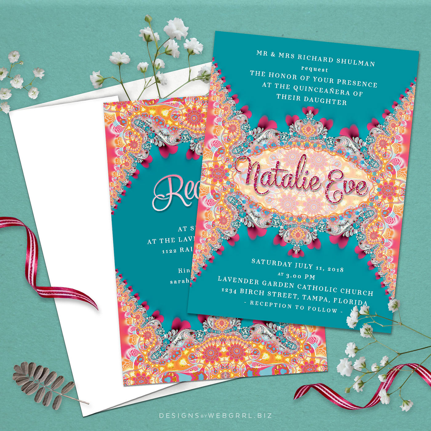 quinceanera invitations on behance