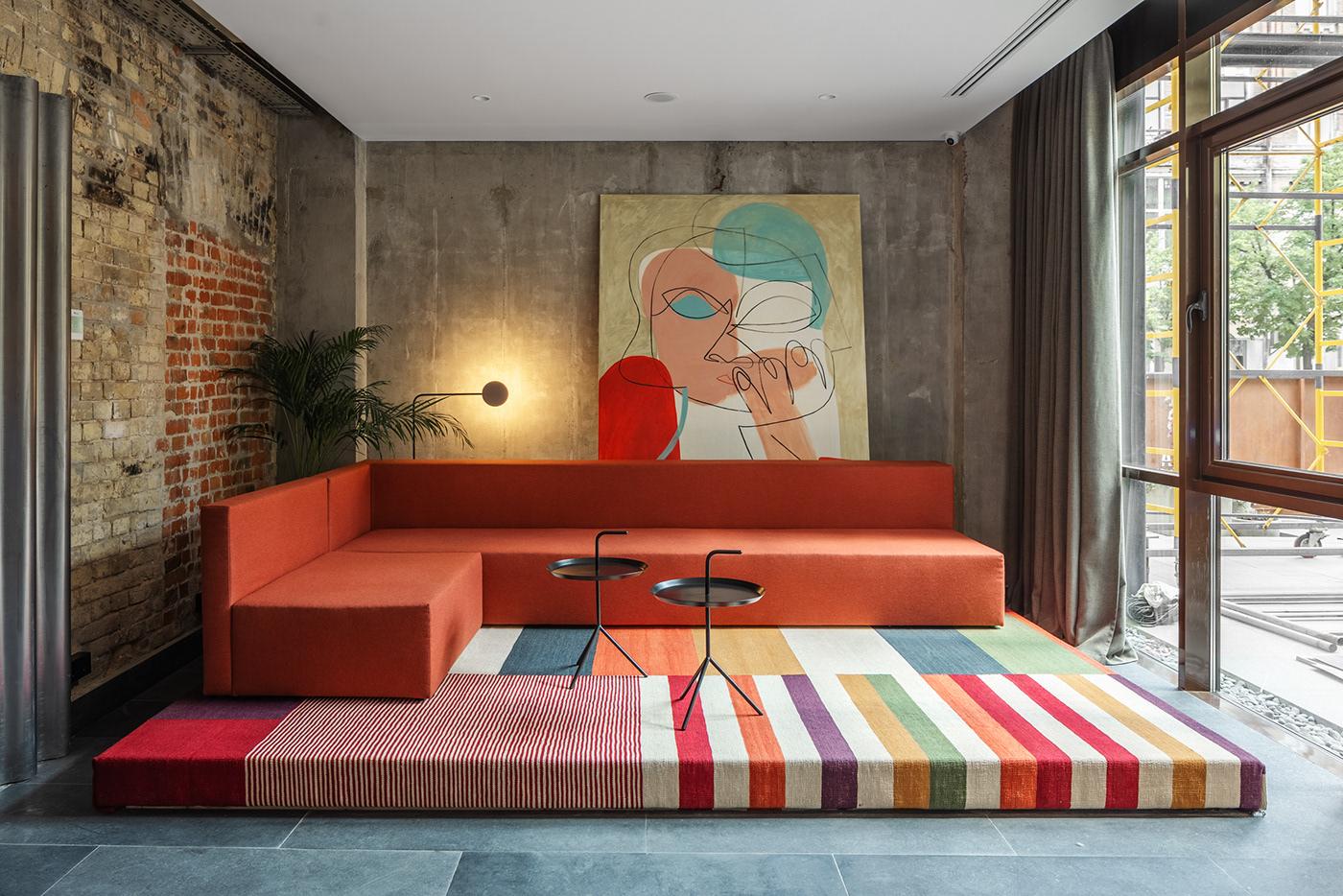 hotel interior design  hotel interior bauhaus designers balbek restaurant bar LOFT
