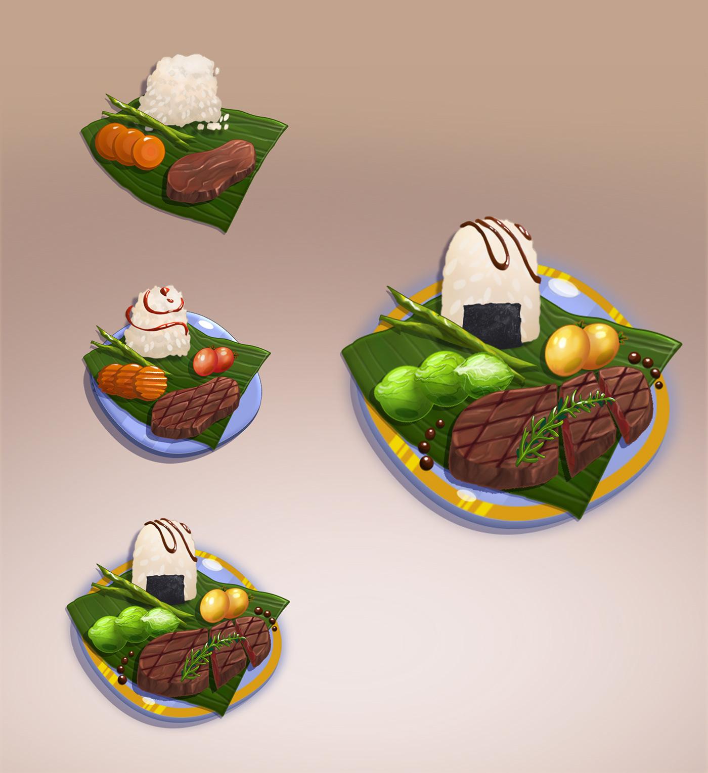 art concept art food asset food concept Game Assets game item mobile game