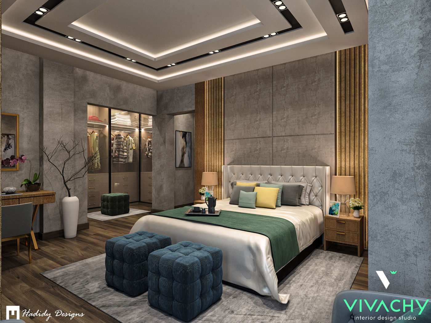 Modern Contemporary Bedroom In Cairo On Behance