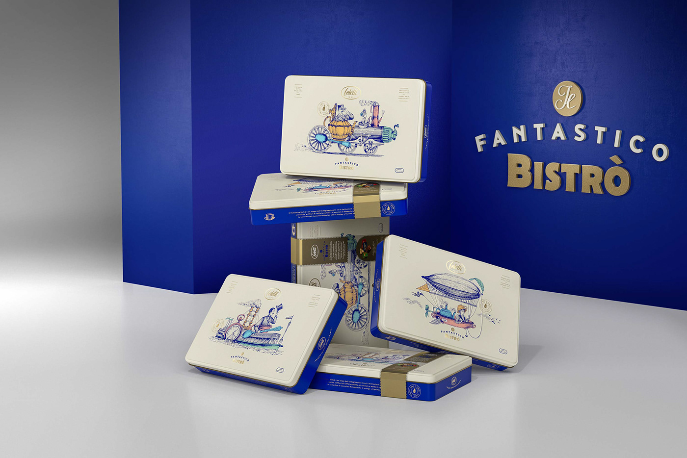 Packaging chocolate vintage graphicdesign ILLUSTRATION  engraving bistro fantasy feletti