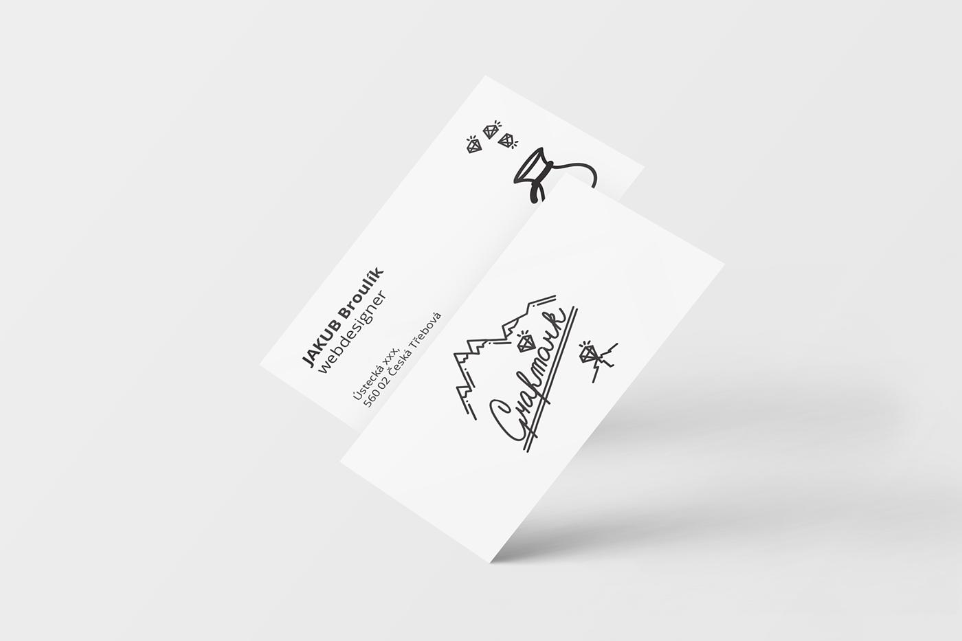 Grafmark business card design logo