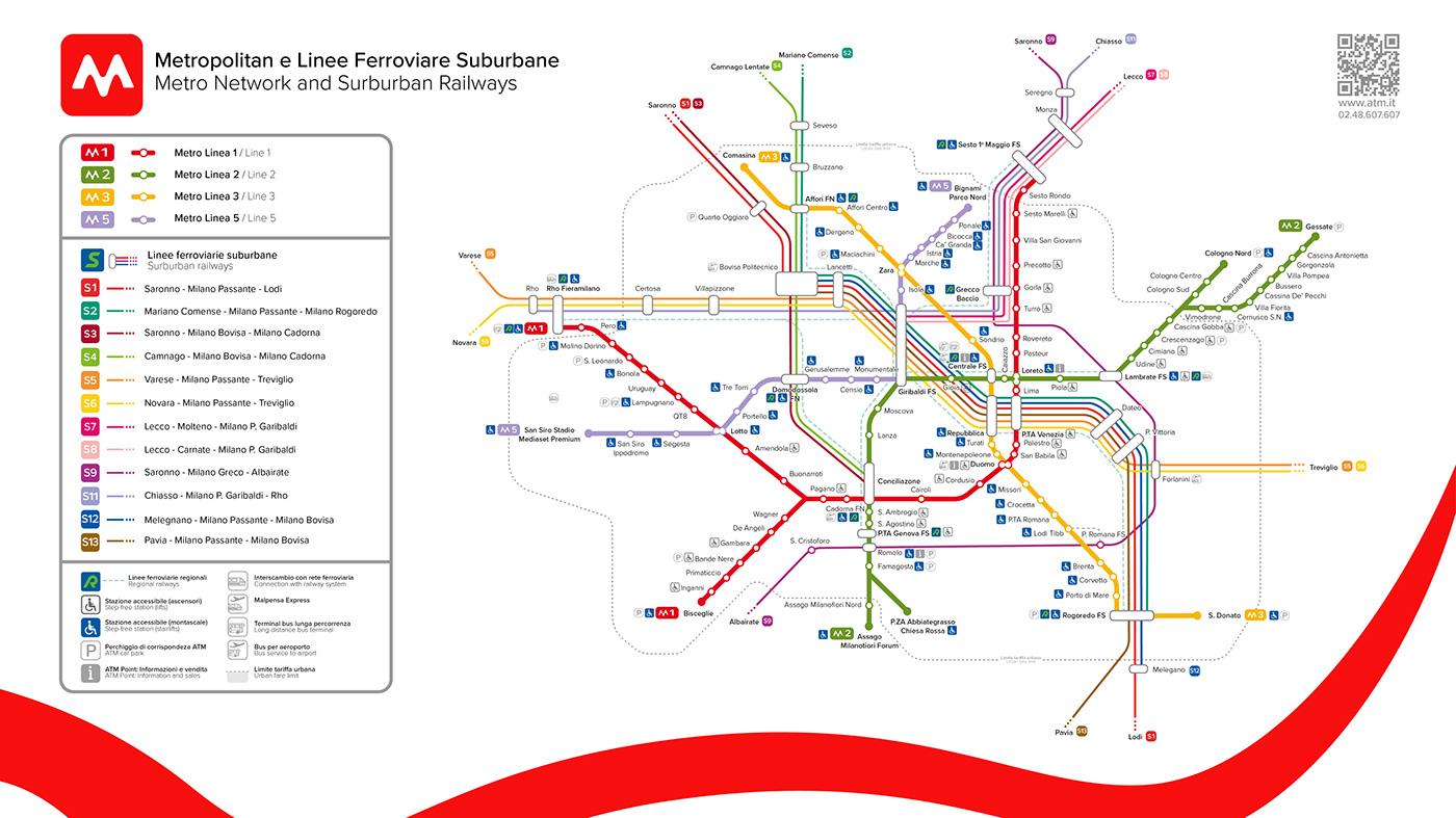 Milan Metro Map Redesign On Behance