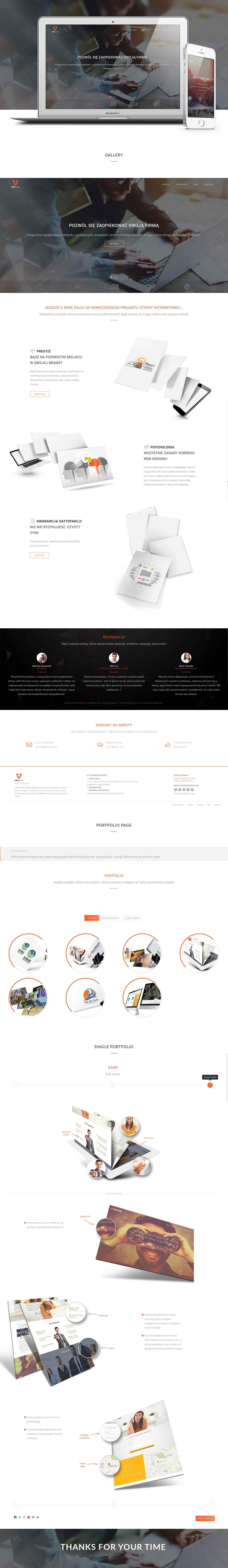 Webdesign portfolio modern clean showcase gm7 grafik design Website www Project