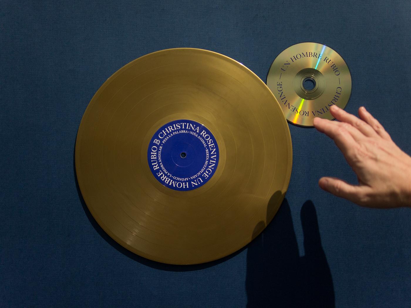 Rosenvinge unhombrerubio artwork music vinyl collage gold
