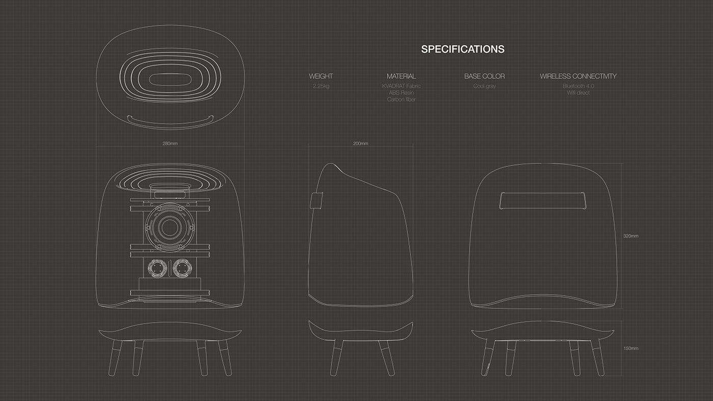 speaker Audio universal design inclusive design product design  industrial design  sound houseware communications furniture