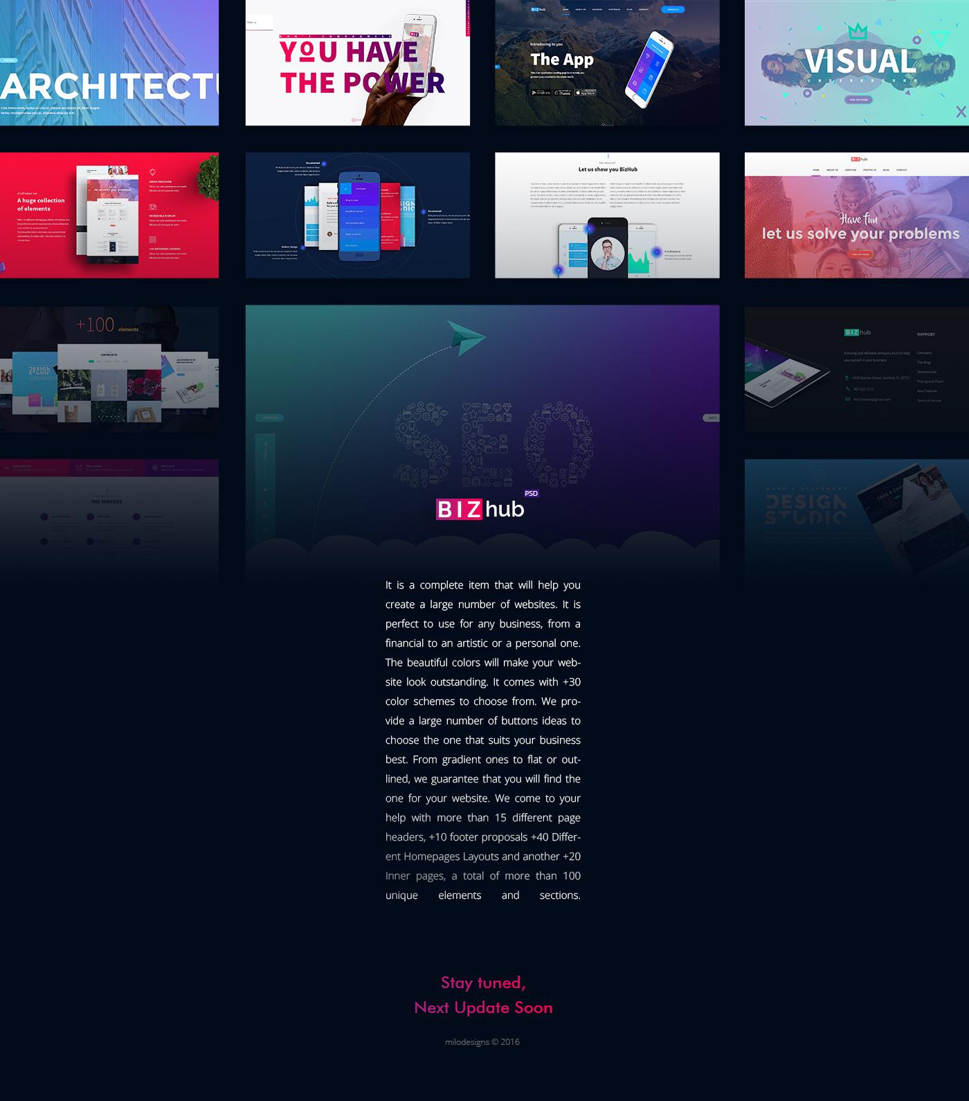 premium wordpress theme unique design Business Website minimal clean Blog psd download psd files template