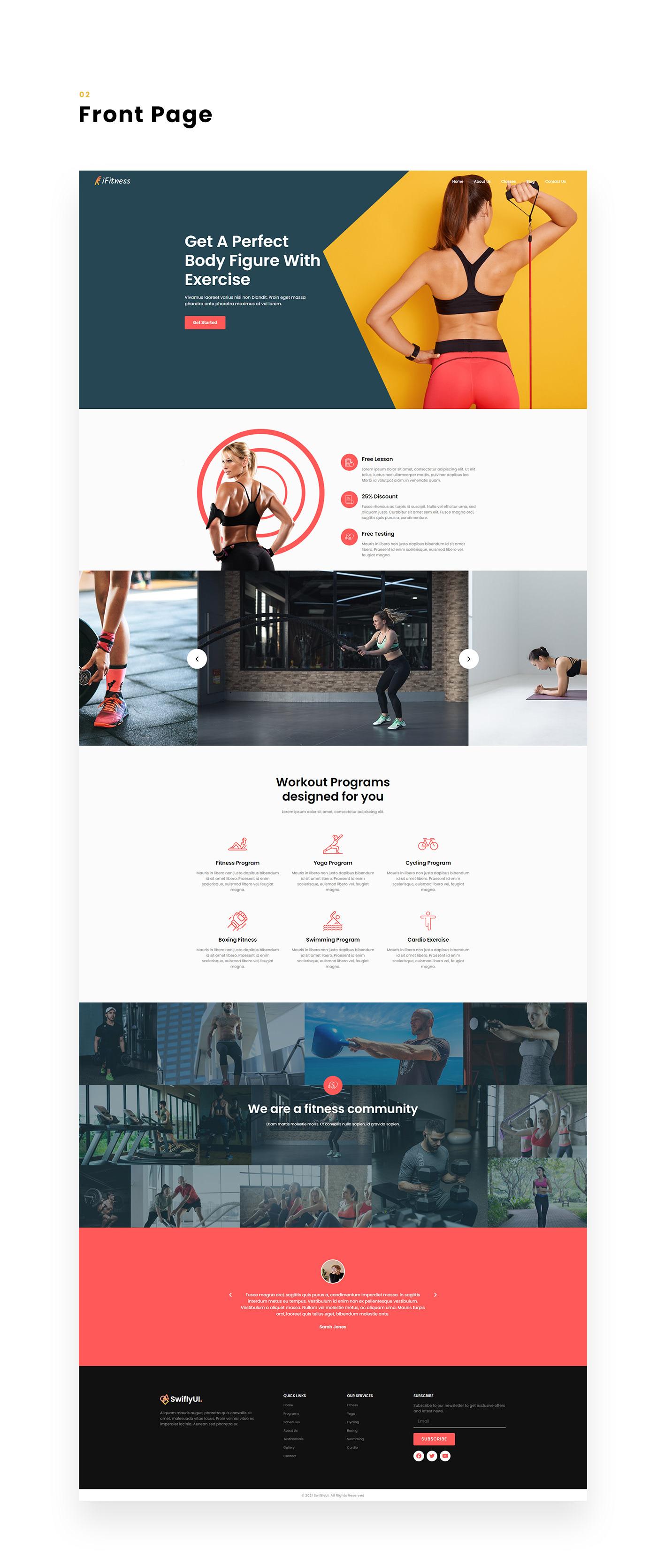 Adobe Photoshop Adobe XD elementor pro Figma fitness fitness website