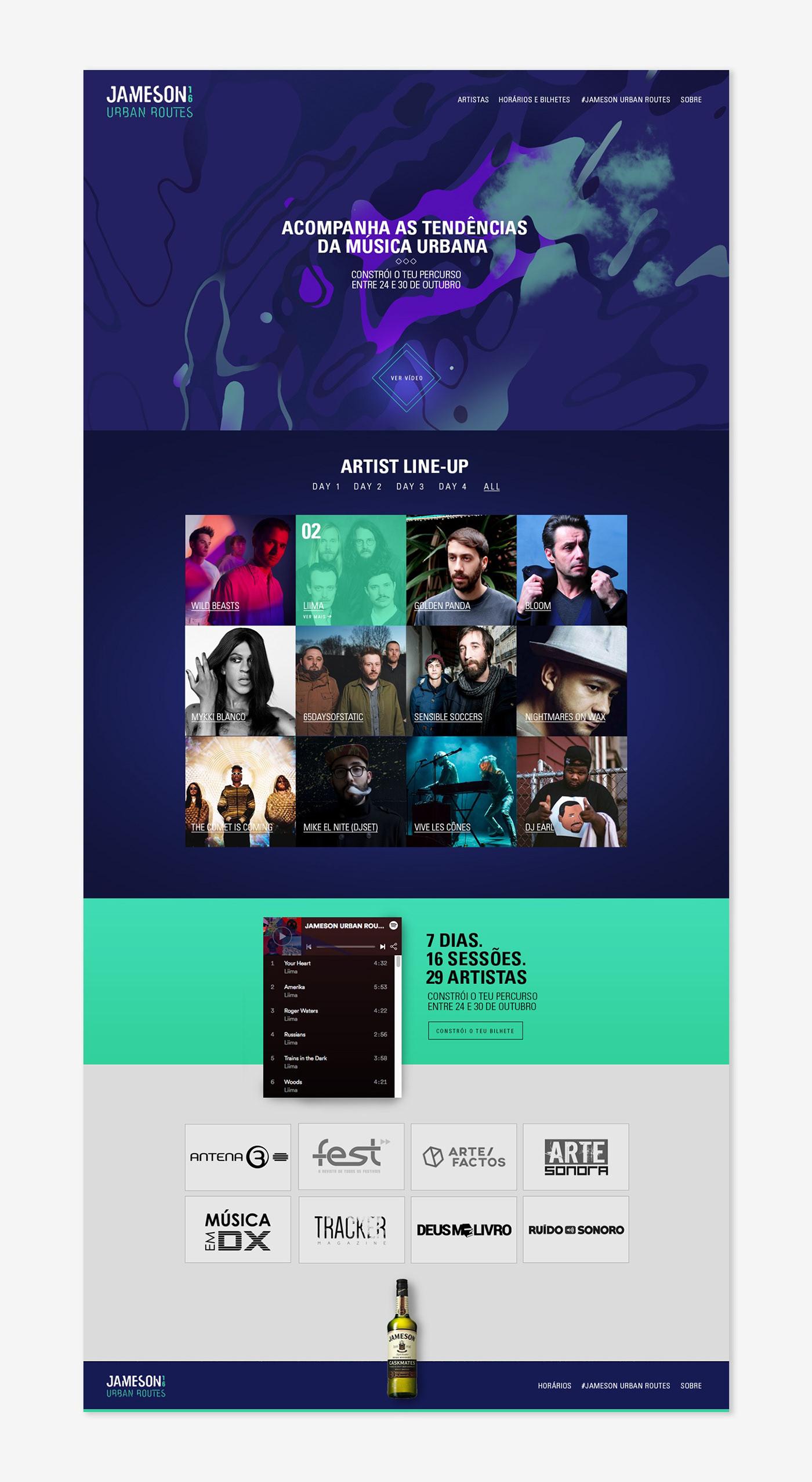 Web Design  web development  music Music Festival festival artists color mobile Responsive