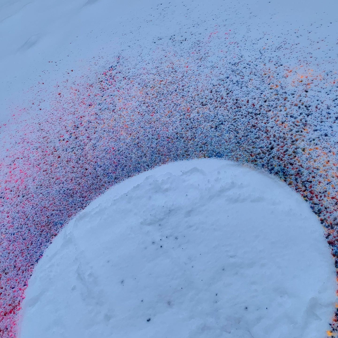 art arty circle colorful conceptual design dotted FINEART inspiration intervention making paints playing round snow spray temporal temporality time winter