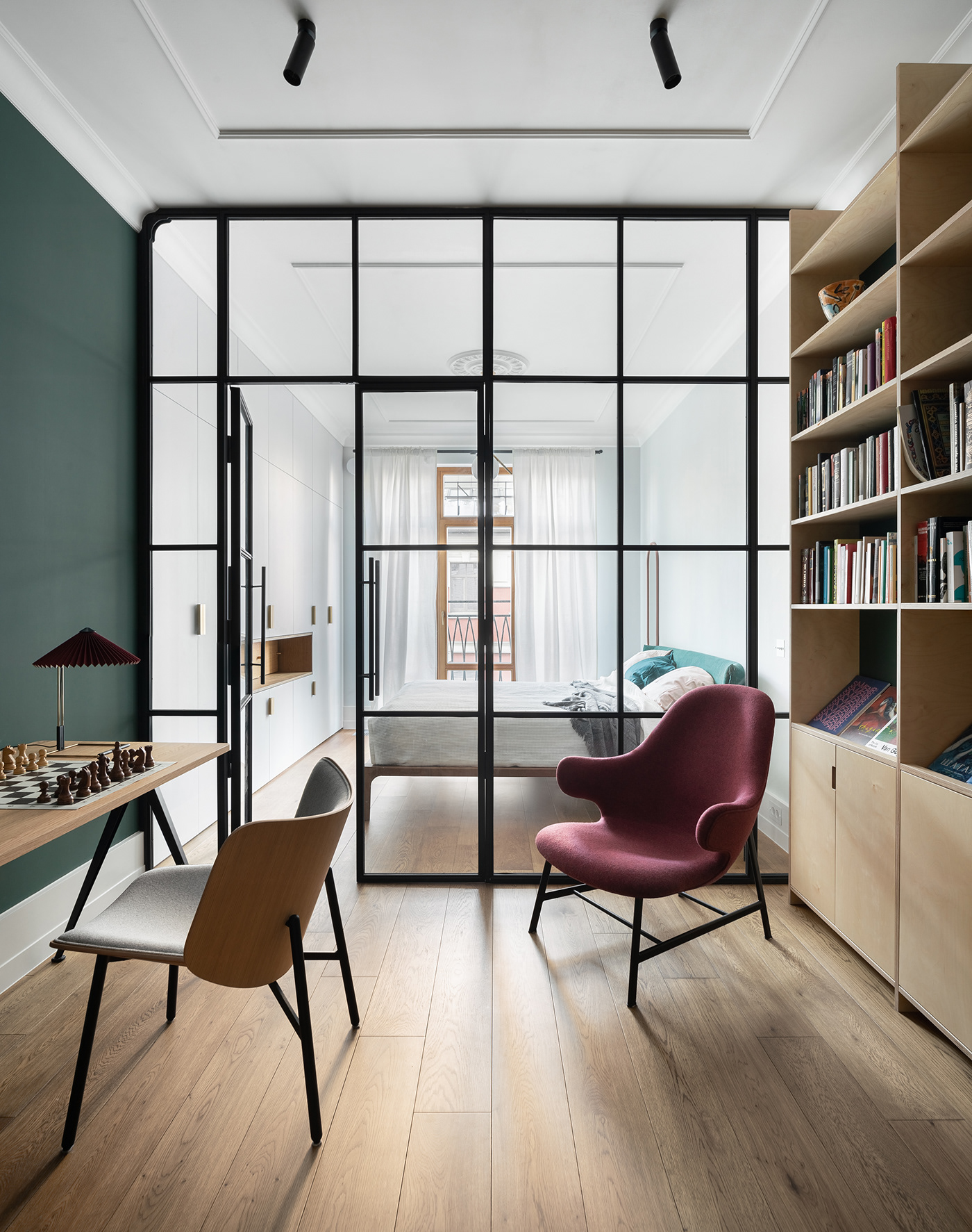 appartment appartment design  architecture design design interior interior design  katarsis architects plywood russian architects Saint-Petersburg