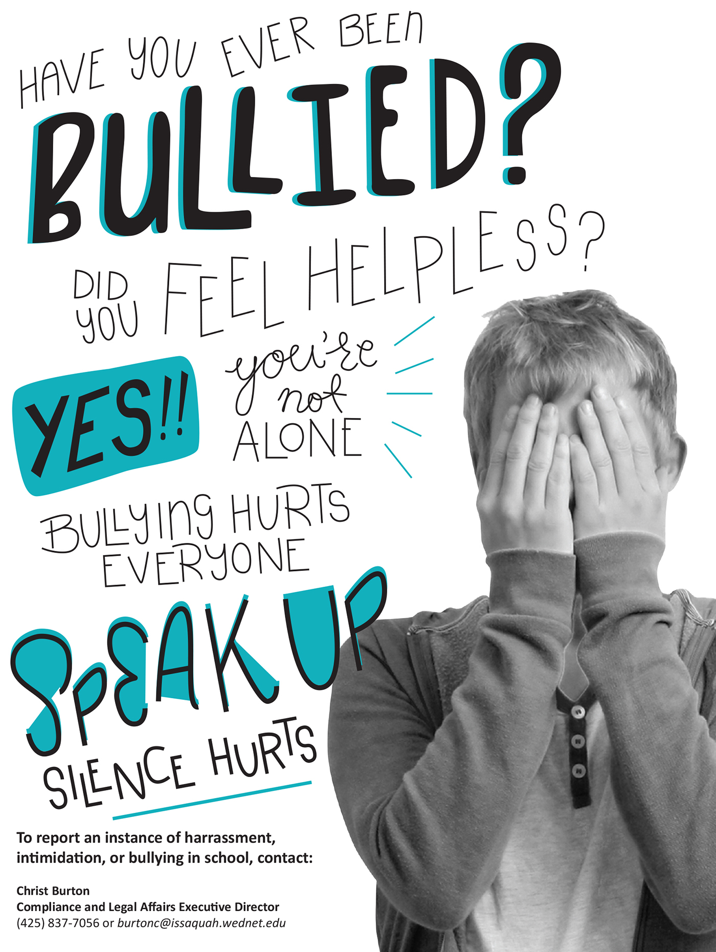 Speak Up, Silence Hurts Anti-Bullying Posters on Behance