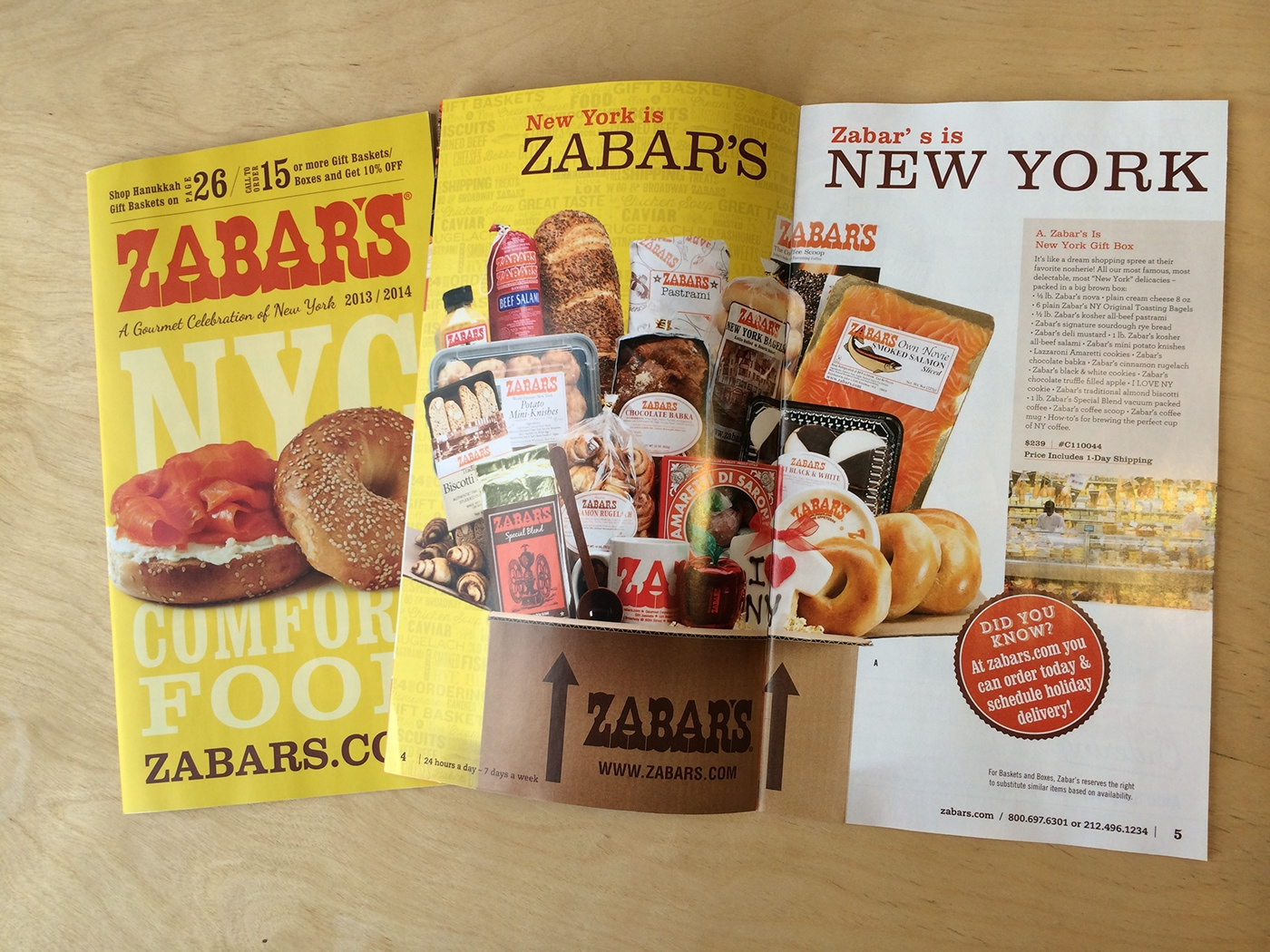 Zabar's Catalog Design of Cover and Welcome page