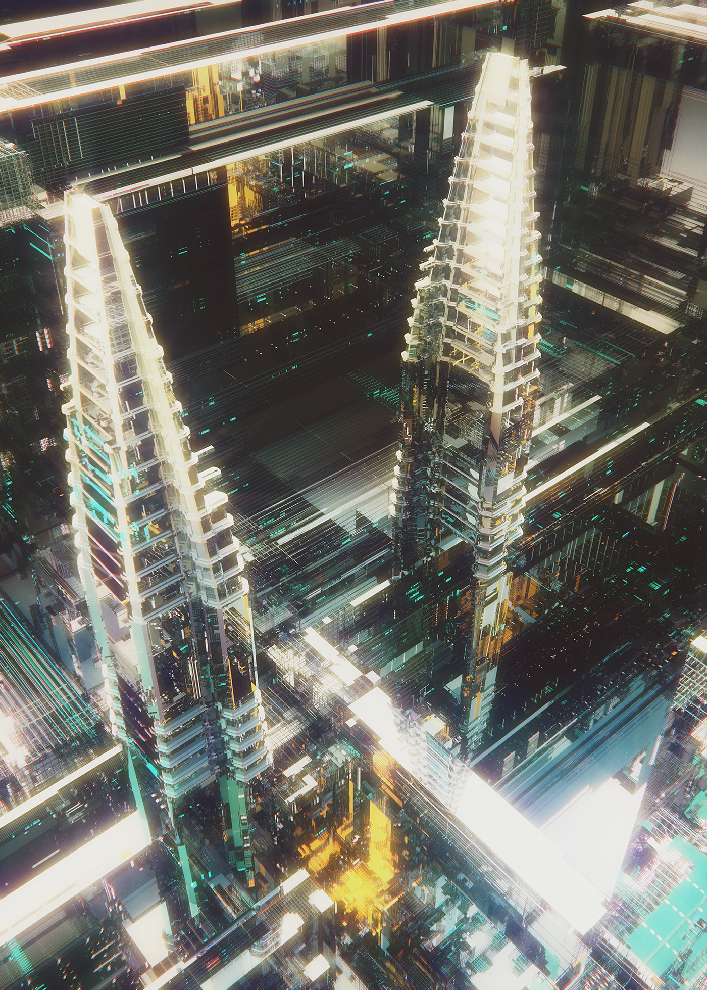 abstract concept Scifi structures