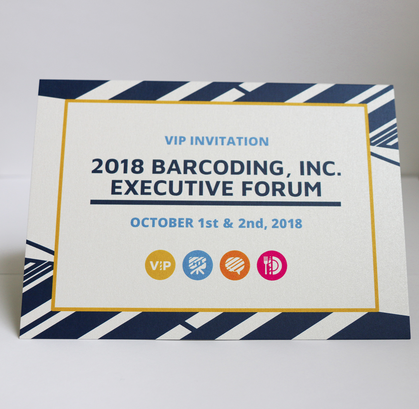 barcode Signage Event Branding abstract Invitation Vip Diecut social media Experience print design
