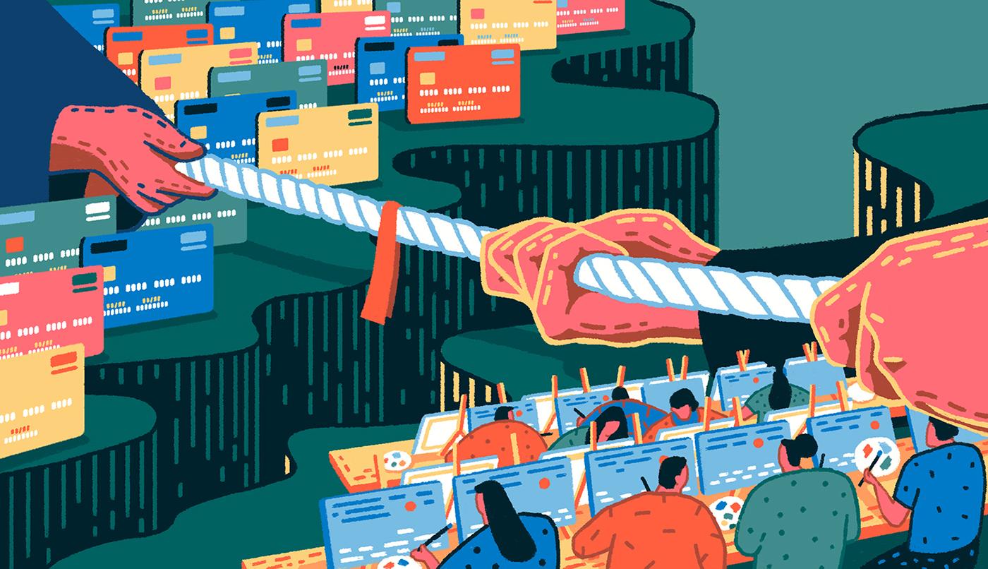 editorial magazine binary hive gif creditcard Technology life
