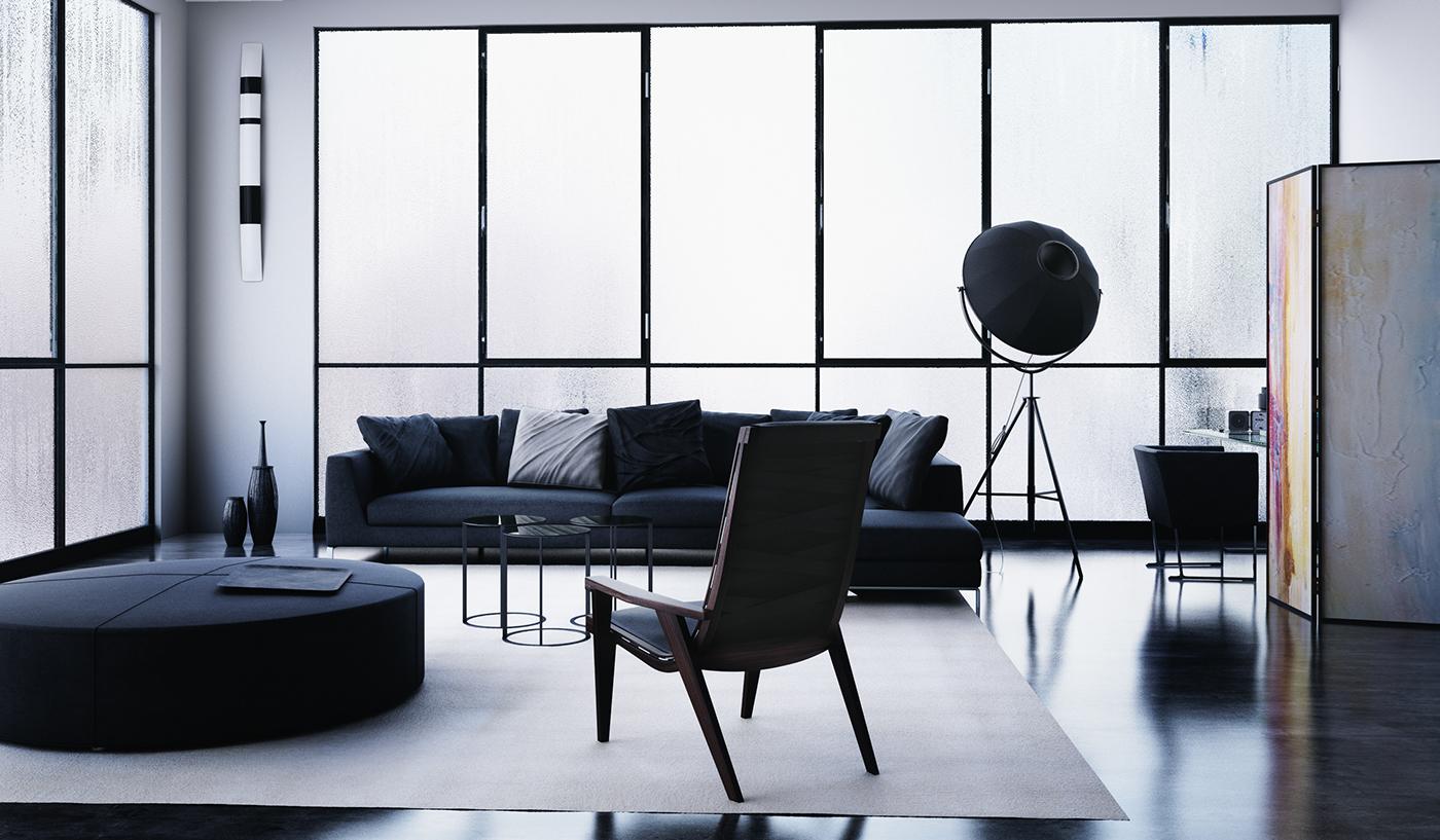 B&B Italia 3dsmax Interior 3D vray